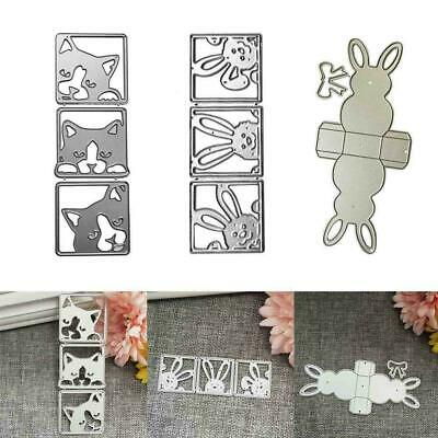 DIY Easter Rabbit Metal Cutting Die Scrapbook Embossing Making Card Stencil A1V6