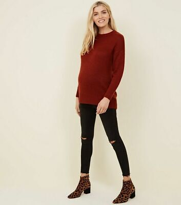 New Look Maternity Knit Jumper - Size Medium - Rust
