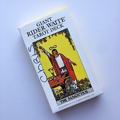 Vintage 1971 Giant Rider-Waite Tarot Deck Complete New US Games 78 Cards