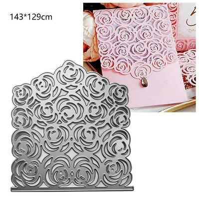 Lace Flower Cutting Dies Stencil Scrapbooking Papers Fast Embossing Card A0K2