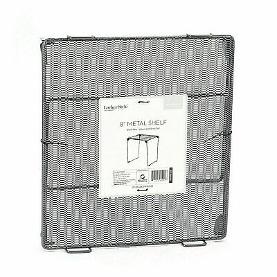Locker Style 8 inch Gray Folding Storage Metal Wire Mesh Stackable School Shelf