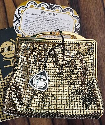 Vintage gold Glomesh purse in box - 1971