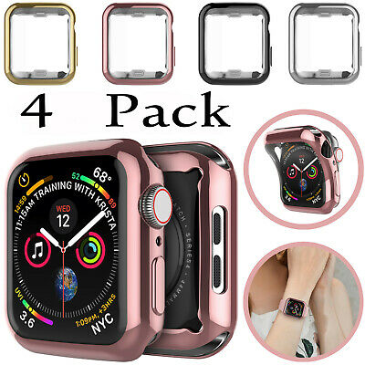 4 Pack For Apple Watch Series 1 2 3 45 44mm 40mm 38mm 42mm Case Clear Slim Cover