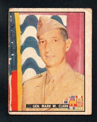 General Mark W. Clark 1950 Topps Freedom's War Heroes #198 Very Good  No Creases