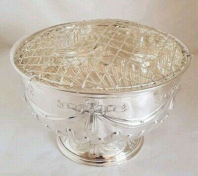 Edwardian sterling silver Rose bowl .Sheffield 1909. By Mappin & Webb Ltd