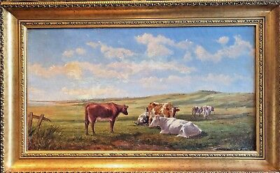 OLD MASTER By ALFRED PARSONS 19th CENTURY (1883) OIL PAINTING GOLD GILT FRAME