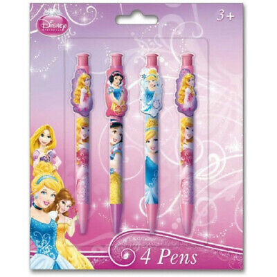 Set de 4 stylos 4 Princesses Disney