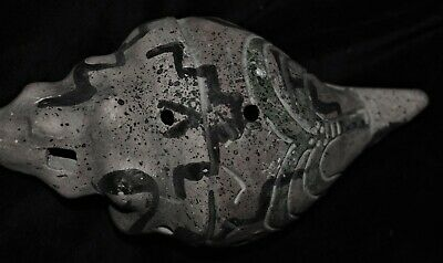 Orig $1099 Wow! Pre Columbian Mayan Shell Horn 6In Prov