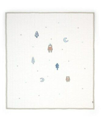 Mamas and Papas Little Forest Blue Quilted Cot / Cot bed Coverlet