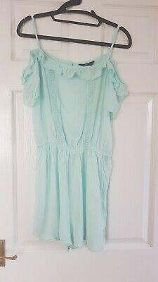 NEW LOOK 915 generation girls mint green playsuit age 14 summer/ party ex con