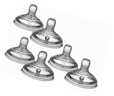 NEW Tommee Tippee Closer to Nature 3 X 2 Pack = 6 Number 2 MEDIUM Bottles TEATS