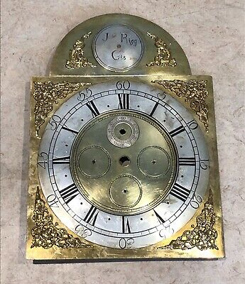 Antique Longcase/Grandfather Clock Brass Dial