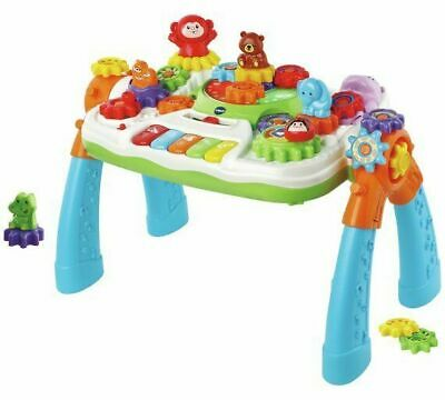 New VTech Gear Zoos Activity Table Animals Piano Sing-a-long 25 Songs