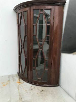 Antique Georgian mahogany with astral glazing Corner Cabinet