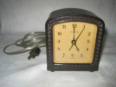 Vintage Hammond electric shelf clock, working