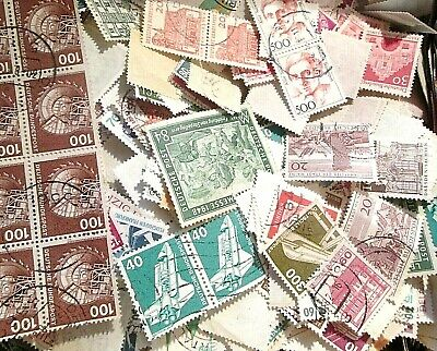 500 unsorted WEST GERMANY Stamps off paper Kiloware From  Old Collections