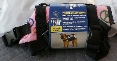 "DOG PET PRESERVER LIFE VEST Guardian Gear Pink PEACE Sign  XX-Small 8"" NWT"