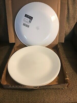 "NIB Six (6) Corelle Winter Frost White 10 1/4"" Dinner Plates"