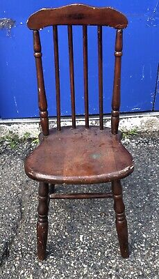 Antique Paris Mfg Co. Vintage Children's Chair Oak Wood #304