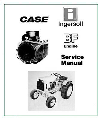 Case Ingersoll Tractor BF Onan ENGINE SERVICE Repair MANUAL - SEARCHABLE CD