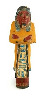 Rare Unique Ushabti Egyptian Ancient Faience Shabti Statue Mummy Egypt Stone