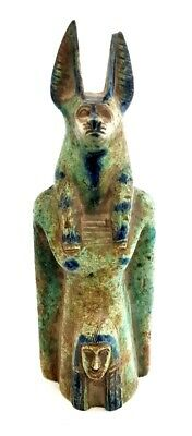 Anubis Rare Egyptian Statue Figurine antique Pharaoh Sculpture hieroglyphic art