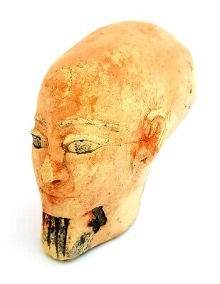 Rare Faience Egyptian Ancient Antique Akhenaten Egypt art bust queen Nefertiti