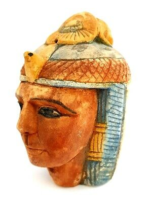 King Bust Egyptian Pharaoh Figurine Statue Ancient Mask Egypt Tall Sculpture tut
