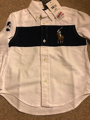 NWT Boy Ralph Lauren Polo Button Down Shirt Size 2T