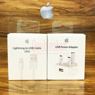 iPhone charger Cable and Plug 100% Genuine fast charging USB data sync Adapter