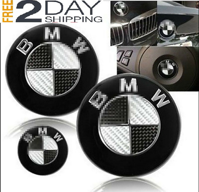 BMW Car Emblem Chrome Front Badge Logo 82mm 2 Pins for Hood Front/Rear Trunk-NEW