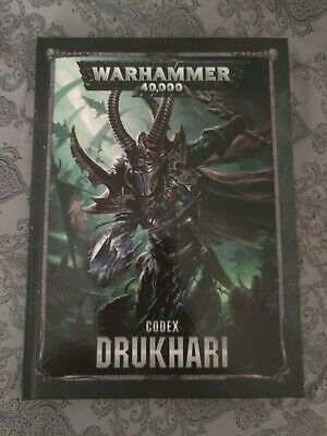 WARHAMMER 40K DRUKHARI Codex Dark Eldar Hardcover 8th Edition NEW