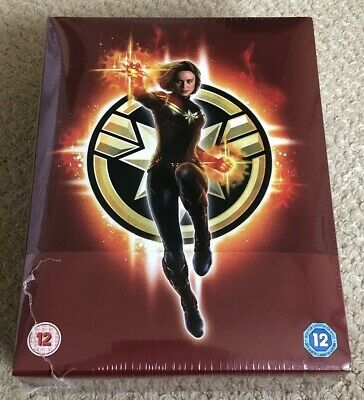 Captain Marvel - 3D & 2D Blu-ray Collectors Edition Steelbook - New & Sealed