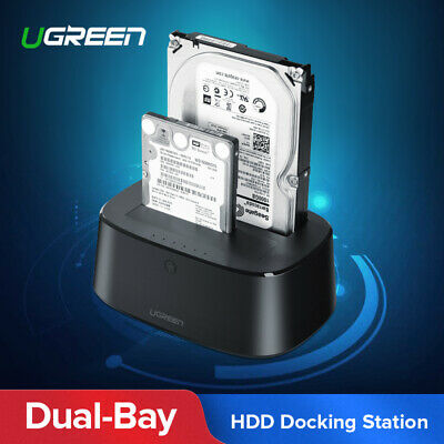 Ugreen HDD Docking Station SATA to USB 3.0 Adapter for 2.5 3.5 SSD Disk Case HD