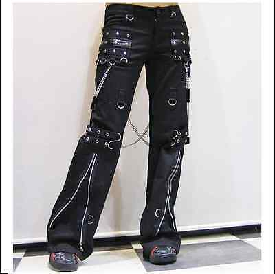 New PUNK RAVE Heavy Metal Rock Gothic Leather pants K-301 ALL STOCK IN AUSTRALIA