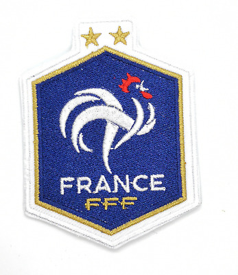 2018 World Cup Two Star France Fff Football Shirt Sew Iron On Patch Badge Crest