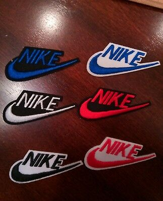 "(6) Nike  Logo/ Emblem Embroidered Iron On Patches PATCH LOT 2.1"" x 1"""