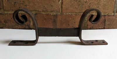 ANTIQUE HAND FORGED WROUGHT IRON 19th CENTURY BOOT SCRAPER, ARCHITECTURE