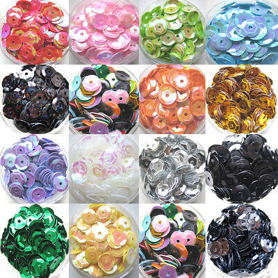 400pcs 6mm PVC Flat Round Loose Sequins Paillettes Sewing Wedding DIY Decor