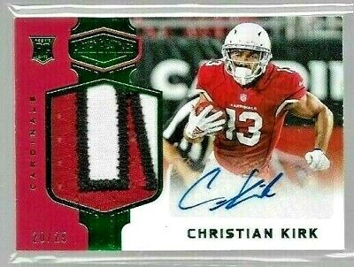 2018 Plates & Patches Emerald Christian Kirk 3Clr Jrsy Auto Rc Serial # 20/25