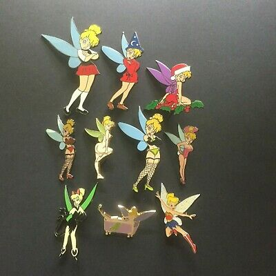 Lot of 10 Tinker Bell FANTASY PINS All are Limited Editions Disney Pin 0