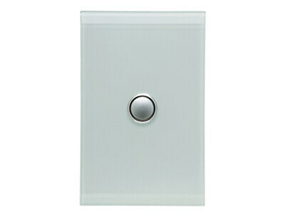 Clipsal Saturn 4061PBL-PW 1gang Blue LED Wall Switch Pure White