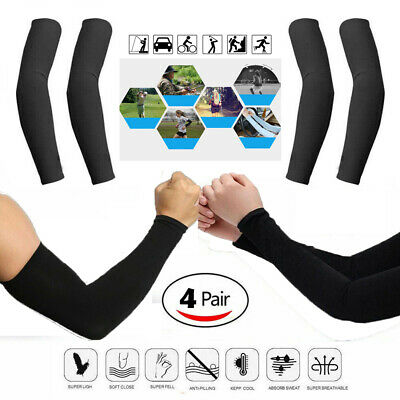 4 Pairs UV Protection Cooling Arm Sleeve  Sun Sleeves Suitable For Men Women