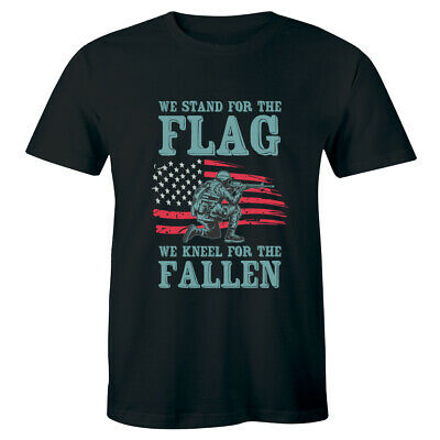 We Stand For The Flag We Kneel For The Fallen T-Shirt for Men