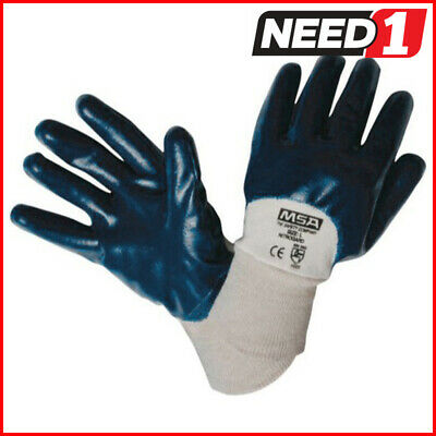 MSA Nitrile Coated Work Gloves 12 Pairs Small Industrial General Purpose Garden