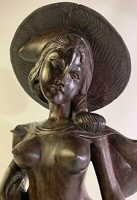 Bali Hand Carved Wood Sculpture Figure Statue Balinese Woman Exquisitely Erotic