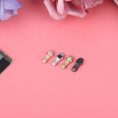 4PCS 1/12 Metal Miniature Dollhouse accessories Lady Watch for Kids Toy Gift❤BT