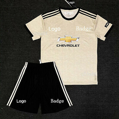 19/20 Football Full Kit Kids Youth Soccer Team Jersey Stripes Sports Suit Outfit