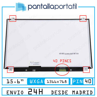 Pantalla Para Portatil Nt156Whm.n10 15.6 Hd 1366 X 768 Lcd Led Wxga 40 Pin