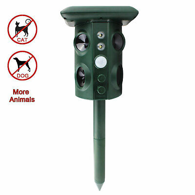 Solar Powered Ultrasonic, Dog, Snake, Rodent, Pest Scarer Repellent For Garden /